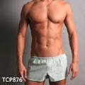 【GCUP】中短版二用運動型前雙口袋平口褲(牛津布綠白條)(XL)
