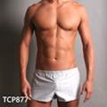 【GCUP】中短版二用運動型前雙口袋平口褲(牛津布灰(厚磅)(XL)