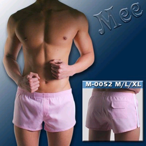 【MEE】超低腰外出/內穿二用 G-CUP平口褲(淡紅)M