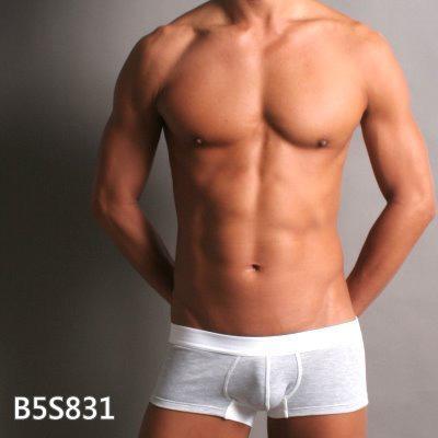 GCUP 運動專用貼身款四角褲(淺灰/白底)(XL)