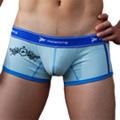 【Holelong】男士低腰印花平角內褲-藍色(XL)