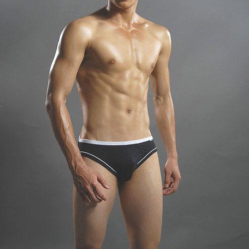 【Holelong】男士木代爾褲-黑色(XXL)