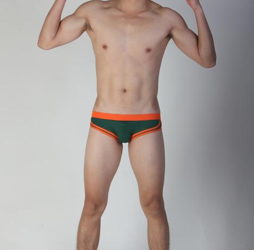 【Vannoor】墨綠色橙筋棉絲三角褲(XL)