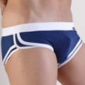 【Vannoor】寶藍色白筋棉絲三角褲(XL)