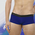 【Vannoor】男士彩筋低腰平角褲-寶藍色(M)