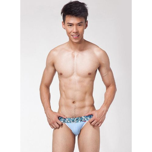 【LOOCH】天藍色低腰性感前T褲(M)