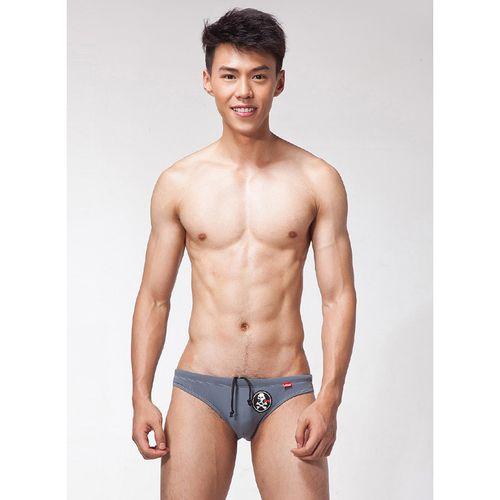 【LOOCH】灰色印花三角泳褲(XL)