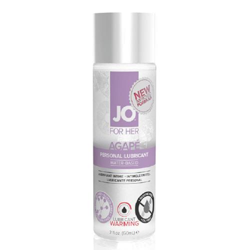 美國JO*JO AGAPE- WARMING - LUBRICANT (WATER-BASED) 2 floz / 60 mL.抗過敏潤滑液/熱感型
