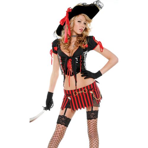 美國【Forplay】鬼盜船海盜系列-皮革質感兩件式性感海盜裝