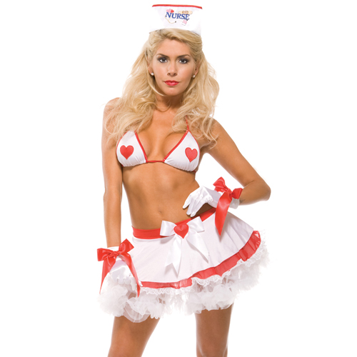 美國【Forplay】小護士系列-兩件式比基尼造型護士裝