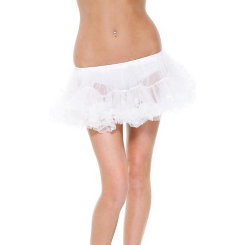 美國【Forplay】雙層薄紗款白色襯裙