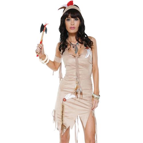 美國【Forplay】印地安那瓊斯民族風-垂吊式連身洋裝(焦糖色)
