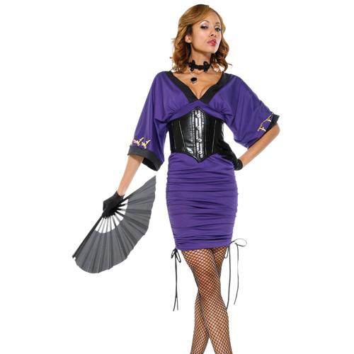 美國【Forplay】東洋和風系列-絲絨馬甲式垂袖造型洋裝