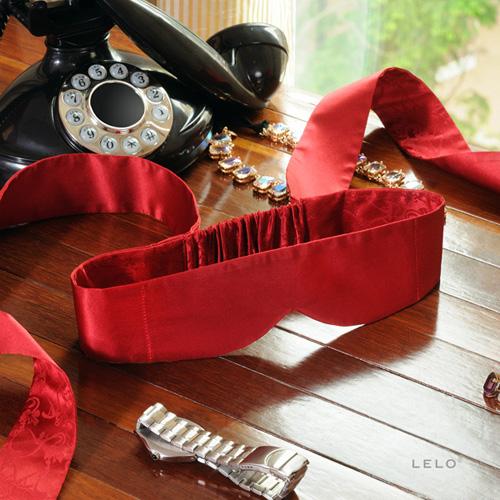 瑞典LELO-Intima Silk Blindfold Red 茵緹瑪絲綢眼罩
