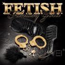 美國原裝進口PIPEDREAM.Fetish Fantasy Gold奢華黃金系列-眼罩+皮拍+手銬+調情羽毛撢 SM組合套裝禮盒