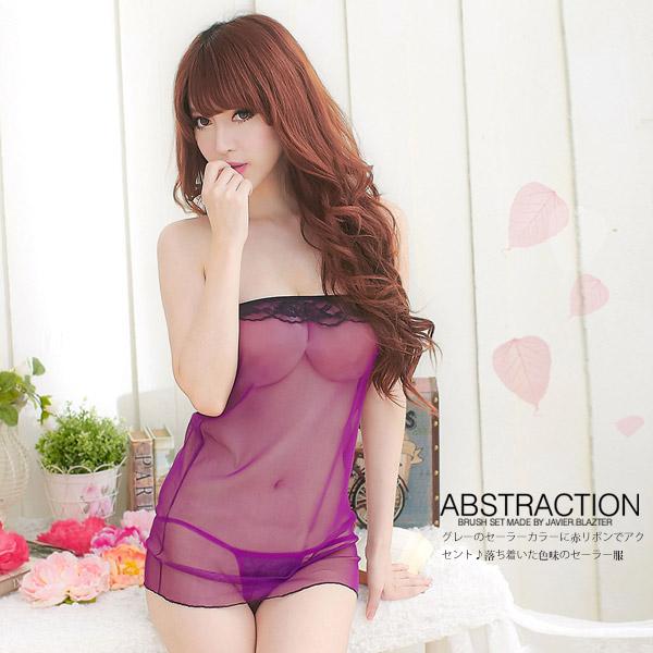 魅力甜心.柔紗二件式睡衣(紫)