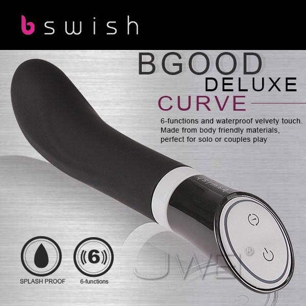 (腥春雙享炮)美國bswish.bgood deluxe curve甜蜜六段變頻G探點按摩棒(黑)