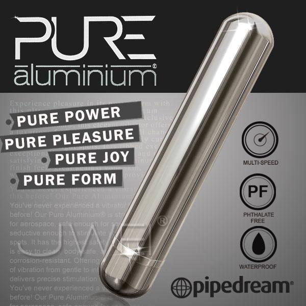 情趣用品-北港小癸-如同警棍一般的捅我-美國進口PIPEDREAM.PURE Aluminium鋁合金材質時尚精品按摩棒-L(銀)-內有開箱文