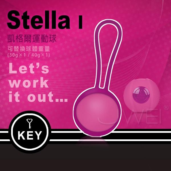 情趣用品-台中依依-訓練陰道同時爽-美國KEY.Stella I 斯蒂娜 縮陰球(球體可交換式)單球-桃紅-內有開箱文