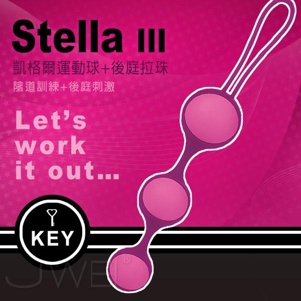 美國KEY.Stella III斯蒂娜 縮陰球(球體可交換式)三球-桃紅