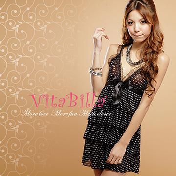VitaBilla 夢幻公主 睡裙+小褲兩件組