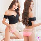 美臀鏤空造型低腰三角內褲(粉紅)