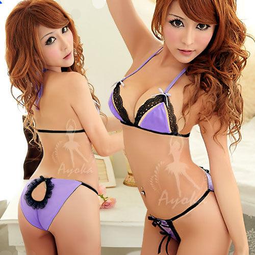 極具誘惑!深情二件式情趣組#紫