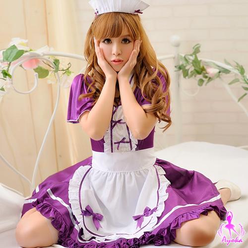 情趣用品-【Ayoka】純情戀曲!四件式女僕角色扮演服