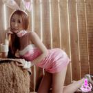 粉嫩動人五件式兔女郎角色扮演服