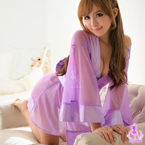 魔幻紫系三件式和服角色扮演服