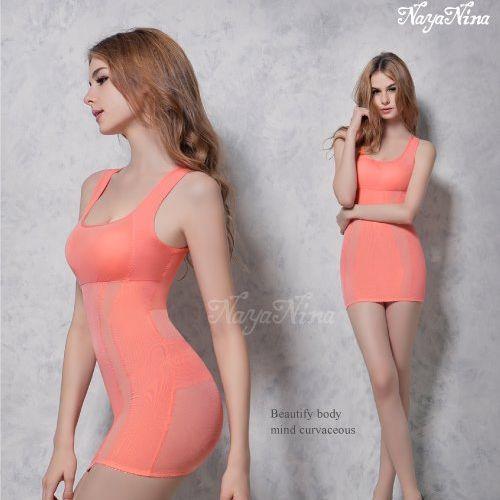 (塑身衣買1送1)【Naya Nina】雙弧推塑˙加強纖腰長版寬肩塑身衣(XXL)#蜜桃粉