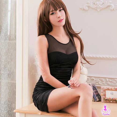 黑色誘惑合身辣妹洋裝角色扮演服