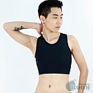 【BOOM】台灣代理香港品牌/DOUBLE透氣舒適/網布套頭半身束胸內衣(S)
