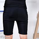 【T-STUDIO】拉繩泳褲/百搭經典黑(單件銷售)(XL)