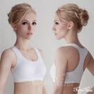 (免運商品)超彈透氣無縫工字背運動無鋼圈內衣(XL)#白