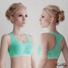(免運商品)超彈透氣無縫工字背運動無鋼圈內衣(XL)#淺綠
