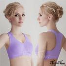 (免運商品)超彈力支撐無縫工字背運動無鋼圈內衣(L)#紫
