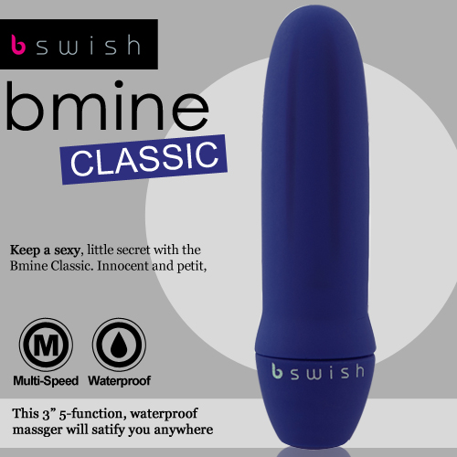 情趣用品-宜蘭頭城~薇婷~美國Bswish-Bmine Classic 5段變頻我的經典按摩器-藍-內有開箱文