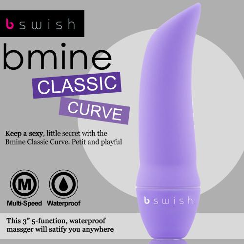 美國Bswish-Bmine Classic Curve 5段變頻我的經典G點按摩器-紫