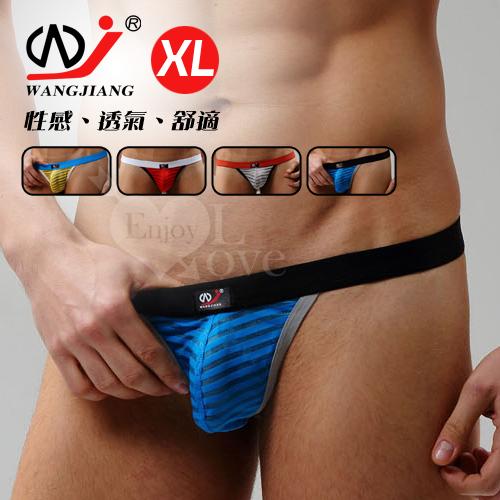 <span class='box1'> 【WJiang】條紋網紗半透明性感丁字褲﹝藍 XL﹞                     </span>:&nbsp;【WJiang】條紋網紗半透明性感丁字褲﹝藍 XL﹞