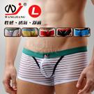 【WJiang】條紋網紗半透明性感平口褲﹝白 L﹞
