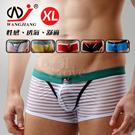 【WJiang】條紋網紗半透明性感平口褲﹝白 XL﹞