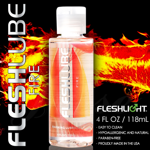 美國Fleshlight-Fleshlube Fire 水性熱感潤滑液-4oZ/118ML