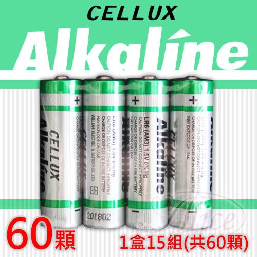 【CELLUX】3號環保鹼性電池一盒(60顆入)