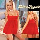 美國Electric-性感女神!薄紗二件式外罩衫-魔力紅