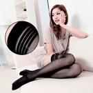 fashion 超彈性透明性感長筒絲襪(黑色款)