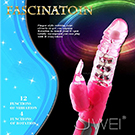 (二王一后)FASCINATION-萌兔之魅 4旋12頻震動防水轉珠按摩棒