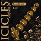美國進口PIPEDREAM.ICICLES冰晶玻璃奢華金系列-震動後庭拉珠棒-G06