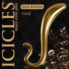 美國進口PIPEDREAM.ICICLES冰晶玻璃奢華金系列-前列腺G點按摩棒-G02