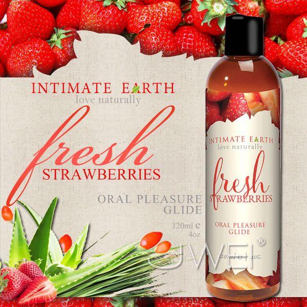 情趣用品-美國Intimate-Earth.Fresh Strawberries 果味口愛潤滑液-草莓 (120ml)